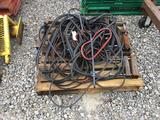 Assortment of belts and pulleys
