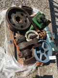 Gear boxes, pulleys