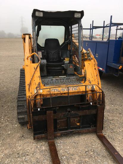 Mustang MTL 20 skid steer track loader with forks.