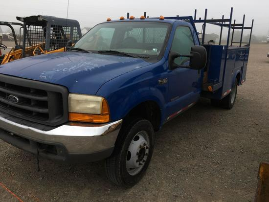 2000 Ford F450 diesel 7.3 powerstroke with utility bed