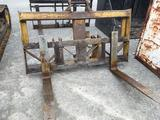 Pair of John Deere forks and carriage, fits lot 8009