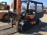 Toyota gas forklift with enclosed cab