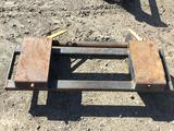 attachment for lot 8040 For receiving skid steer buckets