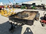 2006 Bumper pull 6.5 by 10ft flatbed trailer