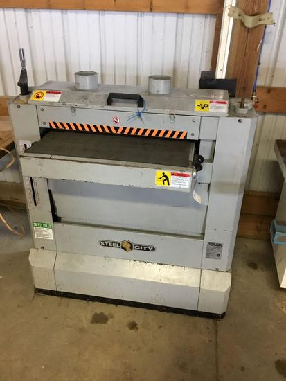 16017- Steel City Dual Drum Sander Model 55220 230 volt single phase