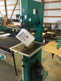 16128- Grizzly 17 Bandsaw with blades, lineshaft