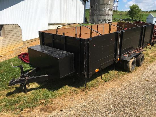 5 x 14 tandem trailer w/rack