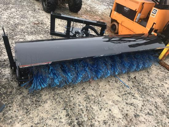 1060- Blue Diamond model 116085 broom attachment 90 inches wide