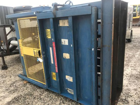1066- Cram a lot cardboard compactor.