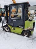 1533-C- Clark CGP 25 forklift propane powered with 7220 hours