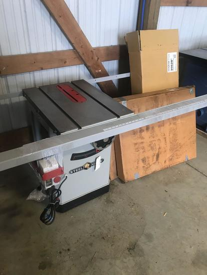 3002- Steel City Table Saw, NEW