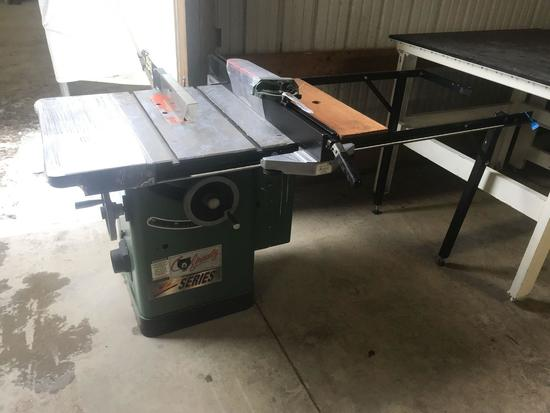 3012- Grizzly 10 inch Tablesaw, Hydraulic Power, 52 inch fence