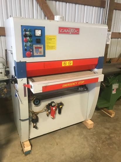 3014- Cantek 36 x 60 inch widebelt sander, lineshaft, air tracking, air clutch