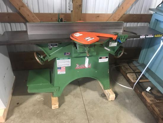 3015- Northfield 12 inch Jointer, Belt Drive