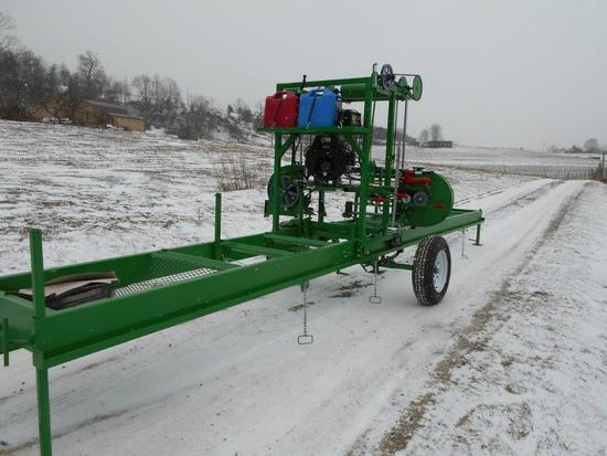 New 2019 EZ Cut Bandmill, Model 2036, w/22 hp Robin-Subaru motor, on trailer package, cuts 36 inch x