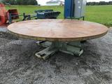10 ft. round stacking table w/hyd. drive