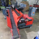 Morgan single head resaw, w/return, completely rebuilt and in like new con. Electric motor, self