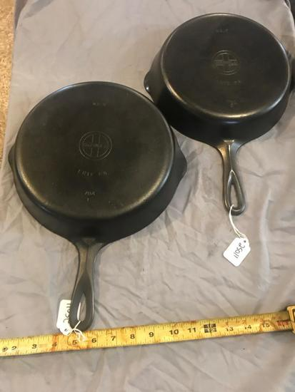 Griswold #7 and #8 Small Block Logo Cast Iron Skillets, selling times the money
