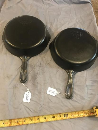 2 Wagner #6 Cast Iron Skillets, selling times the money