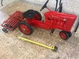 Farmall M Pedal Traktor by Ertl with Custom Model Rotary Harrow, sells times the money