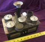 Child's Toy Stove Kit with pots and pans