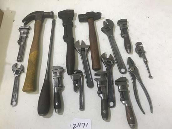 Wrenches, Hammers and Pliers, many vintage