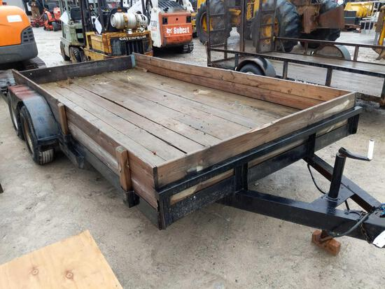 27014- 14 x 7 ft tandem flatbed trailer
