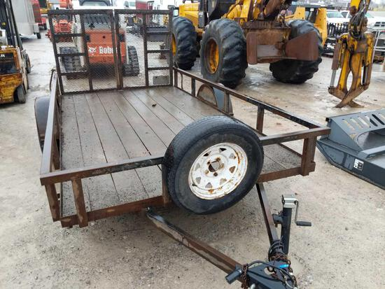 27015- Top Brand 12 x 6.5 ft single axle, split ramp landscape trailer