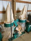 10006- Grizzly 2 bag dust collector, Model G1030, Hydraulic Powered