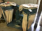 10031- Jet 2 bag dust collector, model DC-1200, 230v single phase, serial 71106594