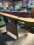 10047- Custom 6 x 129 inch edge sander, 230v single phase