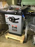 10105- NEW King 10 inch Cabinet Tablesaw w/ fence, 230v single phase, Model no. KC-10KX, Serial no.