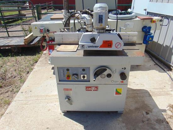 CANTEK SHAPER MODEL SS-512C, WITH POWER FEEDER, 230V 3-PHASE
