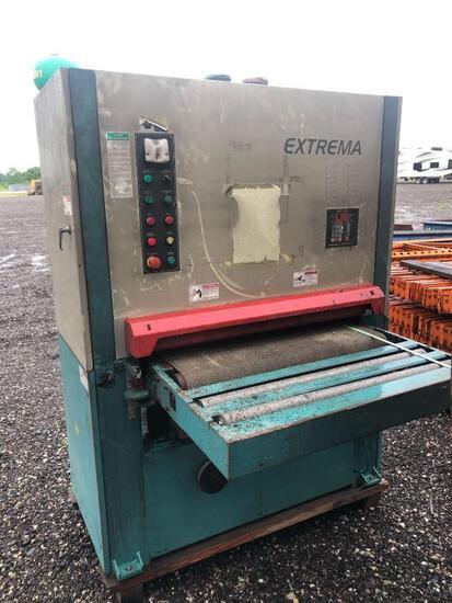 Extrema 37? x 75? wide belt sander, lineshaft, (bad electricals);