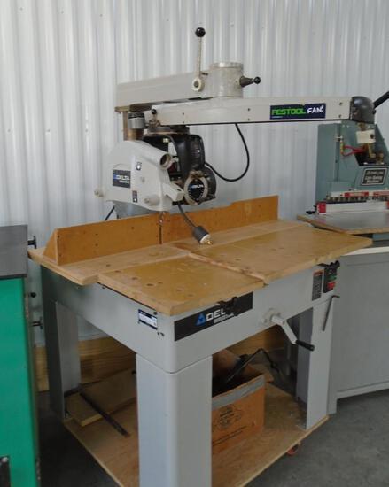 Delta radial arm saw, 230v 3 ph