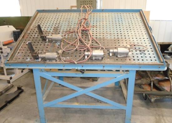 Custom door clamping table, air powered