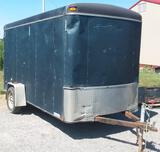 United 6 x 12 single axle enclosed trailer, double swing doors