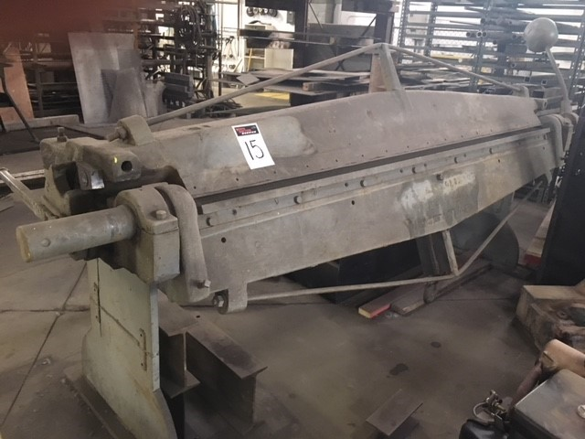 The J.M. Robinson Mfg Co. 8' metal brake