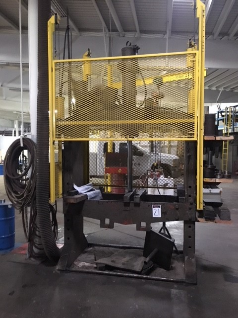 Homemade 100 ton press, 3 phase
