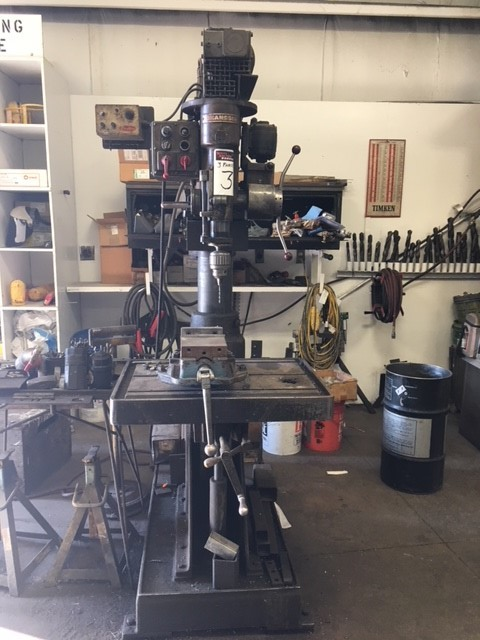 Johansson radial arm drill press, 3 phase