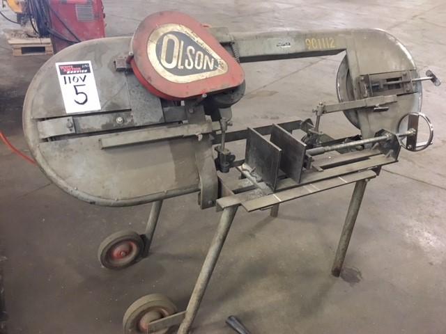 """Olson Mfg  15"""" ban saw,  110 V"""
