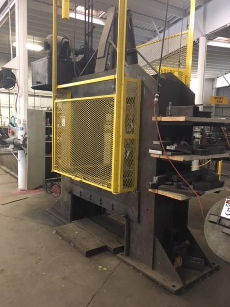 Homemade 100 ton hydraulic press, 3
