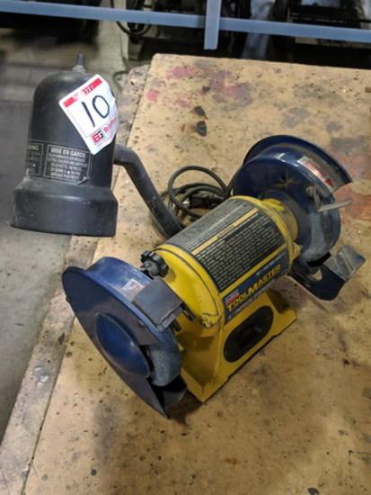 Lincoln Tool Master 6 Inch Bench Grinder w/Lamp, Model: LTG6, 1/5 HP,3450 R