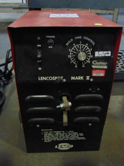 Lencospot Mark II Welder, 1 PH, 230V, 50A, 6.4 VAC, 4 KVA