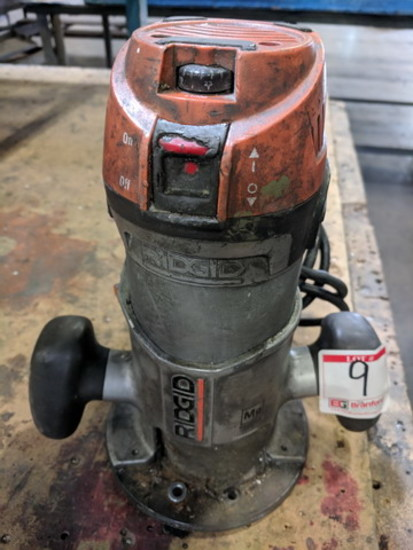 Ridgid Corded Fixed Base Router, Model: R2911, 11A, 120V, 60HZ, 2 HP