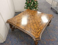 Insurance Claim: Coffee Table with Carved Details