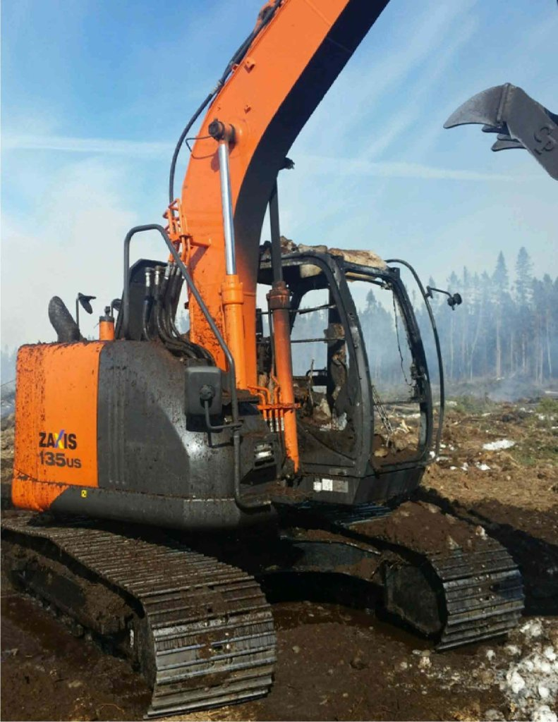 Insurance Claim:  2016 Hitachi Excavator