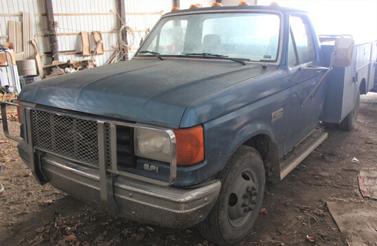 1988 Ford Custom 350 1-ton pickup w/service bed