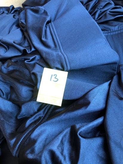 "BOX OF 15 HEAVY DUTY BLACK 60"" SPANDEX TABLE LINENS"