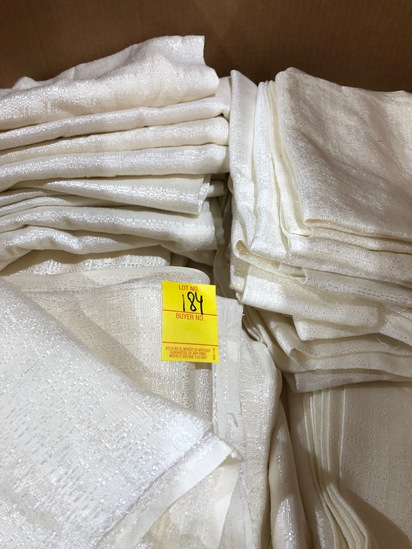 BOX OF 70 IVY SHOW DRAPES, ASSORTED SIZES